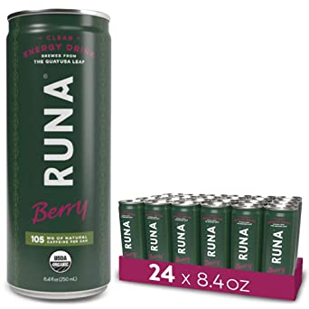 d1d18bafa496 RUNA Organic Clean Energy Drink from the Guayusa Leaf, Berry, 8.4 Ounce  (Pack of 24): Amazon.co.uk: Business, Industry & Science