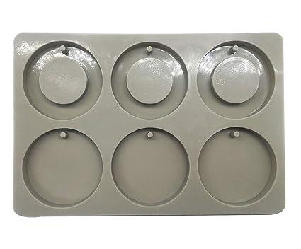 Somtis - Mini moldes de Cera de Silicona, Redondos y de Resina, para Hacer