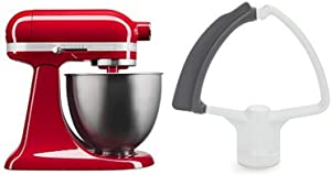 KitchenAid KSM3311XER Artisan Mini with Flex Edge Beater, Empire Red, 3.5 Quart
