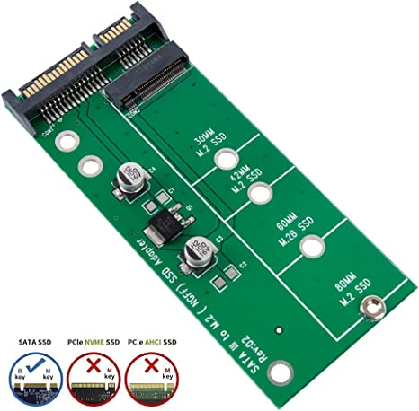 NGFF M.2 SSD Solid State Drive to SATA3.0 2.5 Inch Interface Converter Card