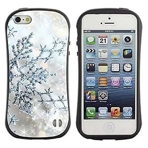 "Hypernova Slim Fit Dual Barniz Protector Caso Case Funda Para Apple iPhone SE / iPhone 5 / iPhone 5S [Silver Glitter Invierno Estrellas Sparkle""]"