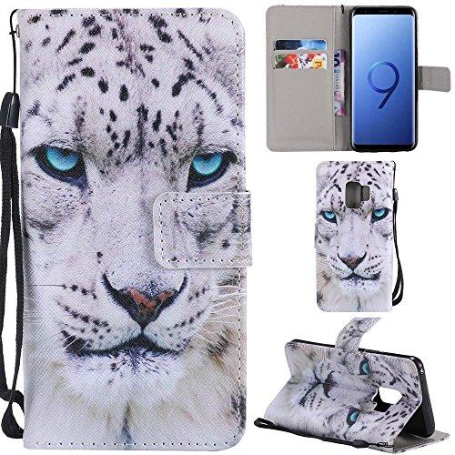 De Pour tui Etui En Cuir Leopard Avec Euwly Ultra Ultra Bandoulire Et plat White G cartes Galaxy S9 mince Samsung Portefeuille Porte Sxw6SUqZF