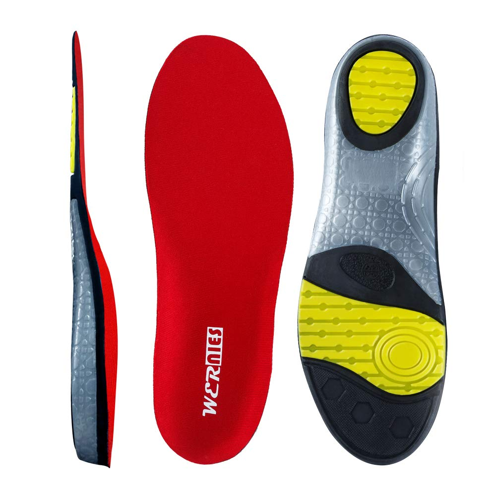 004d47c5af1f WERNIES Sports Insoles Cushioned Insoles For Men Shock-Absorbing Shoe Sole  Insoles For Women