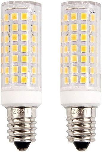 E14 bombilla LED 9W, ZSZT rosca Edison pequeña (SES), equivalente a bombilla halógena de 75W, Blanco cálido 3000K, 2 Piezas: Amazon.es: Iluminación