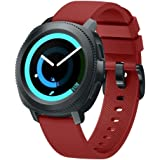BarRan Twill Watchband compatible with Galaxy Watch 42mm, 20mm Soft Silicone quick released Sport Watch Strap Replacement for Samsung Galaxy Watch (42mm) SM-R810 SM-R815/ Galaxy Watch Active