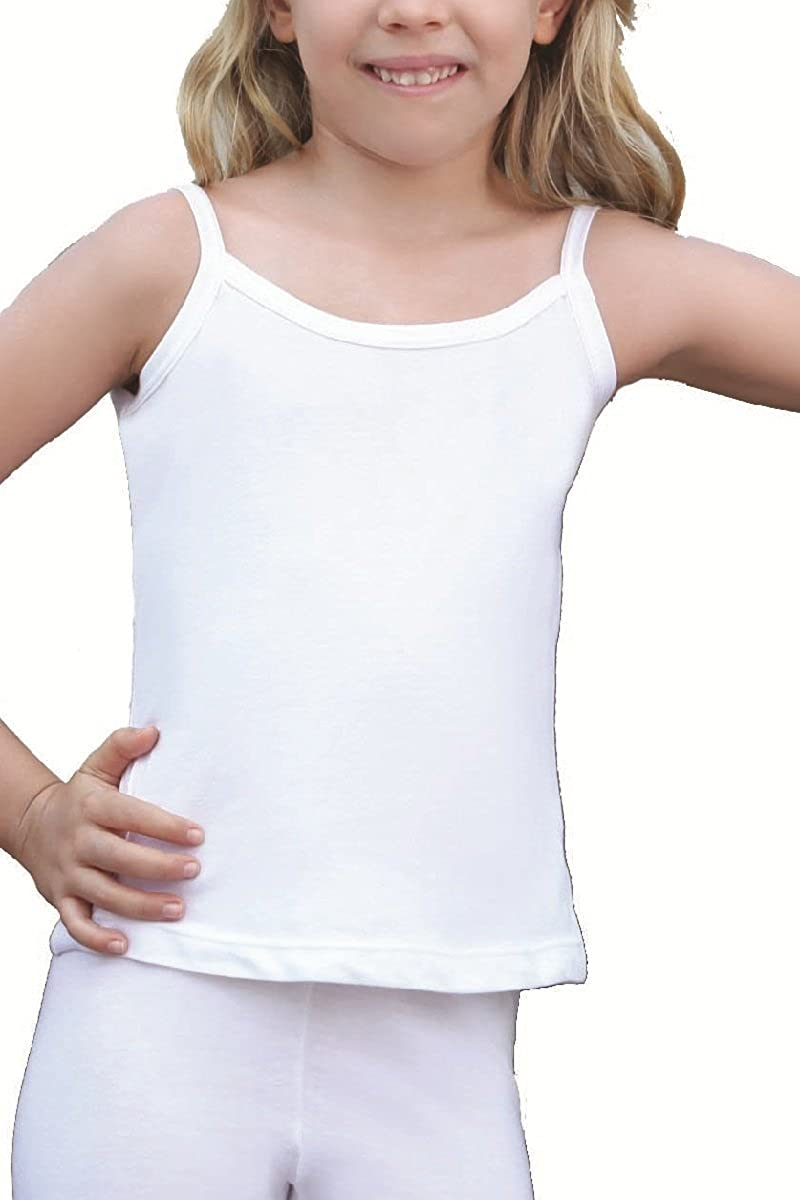 5 Pack of Girls White 100/% Cotton Vests
