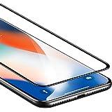 ESR Verre Trempé iPhone X Couverture complète (Noir), iPhone 10 Film Protection en Verre Trempé écran Protecteur Ultra Résistant Indice Dureté 9H pour iPhone X 5,8 pouces (Noir)