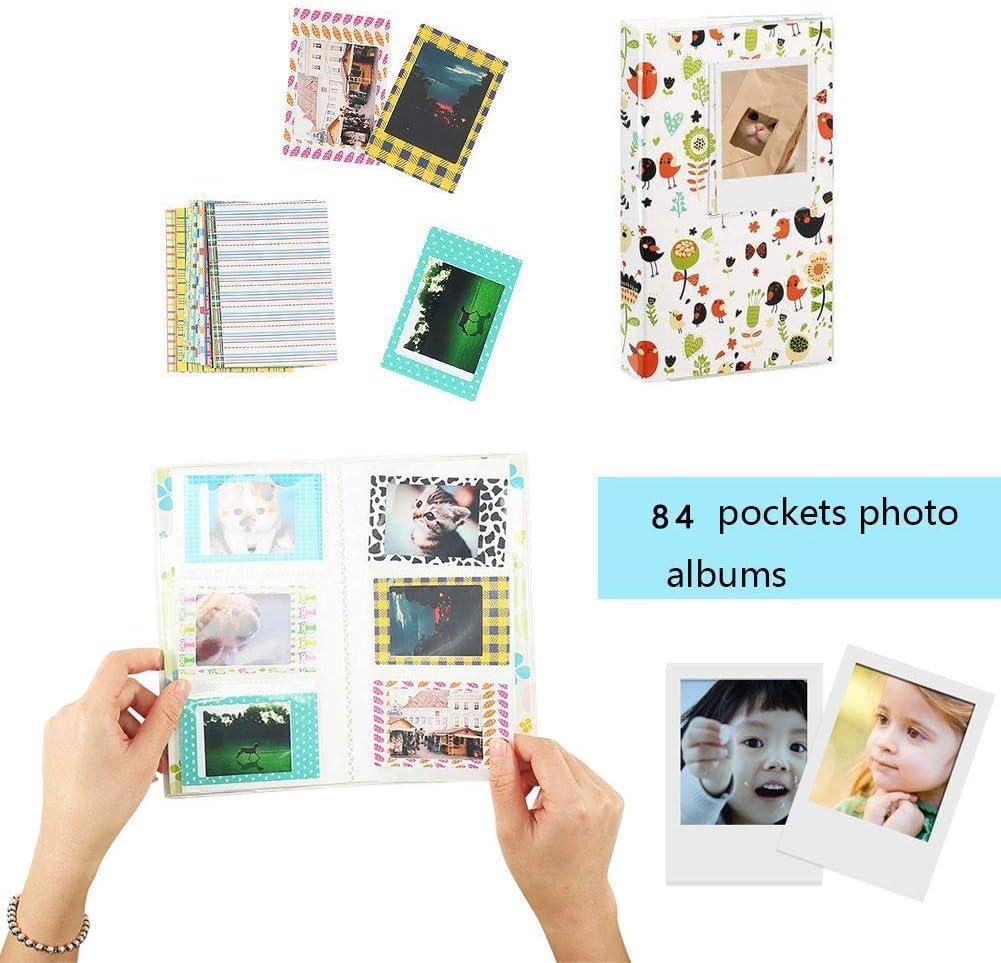Alpaca Katia Instant Camera Accessories Bundle Compatible for Fujifilm Mini 9 // Mini 8+ // Mini 8 Instant Film Camera Stickers Album Includes Camera Case Frame Strap,etc