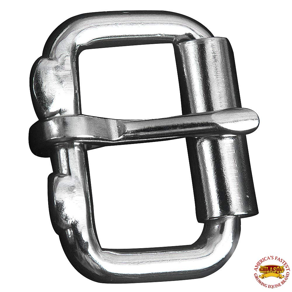 HILASON 2'' One Tong Polished Stainless Steel Roller Buckle