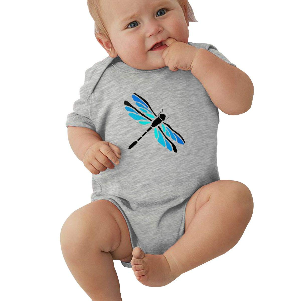 Toddler Baby Girls Bodysuit Short-Sleeve Onesie Playful Dragonfly Dragonfly AABB Print Outfit