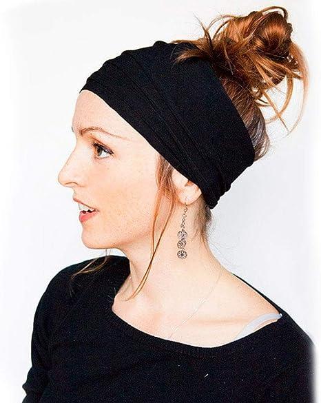 envoltura el/ástica para el cabello para mujeres para el deporte Atl/ético Correr Viajes Fitness Diadema ancha Banda para el cabello de yoga multiusos Pa/ñuelo el/ástico ancho