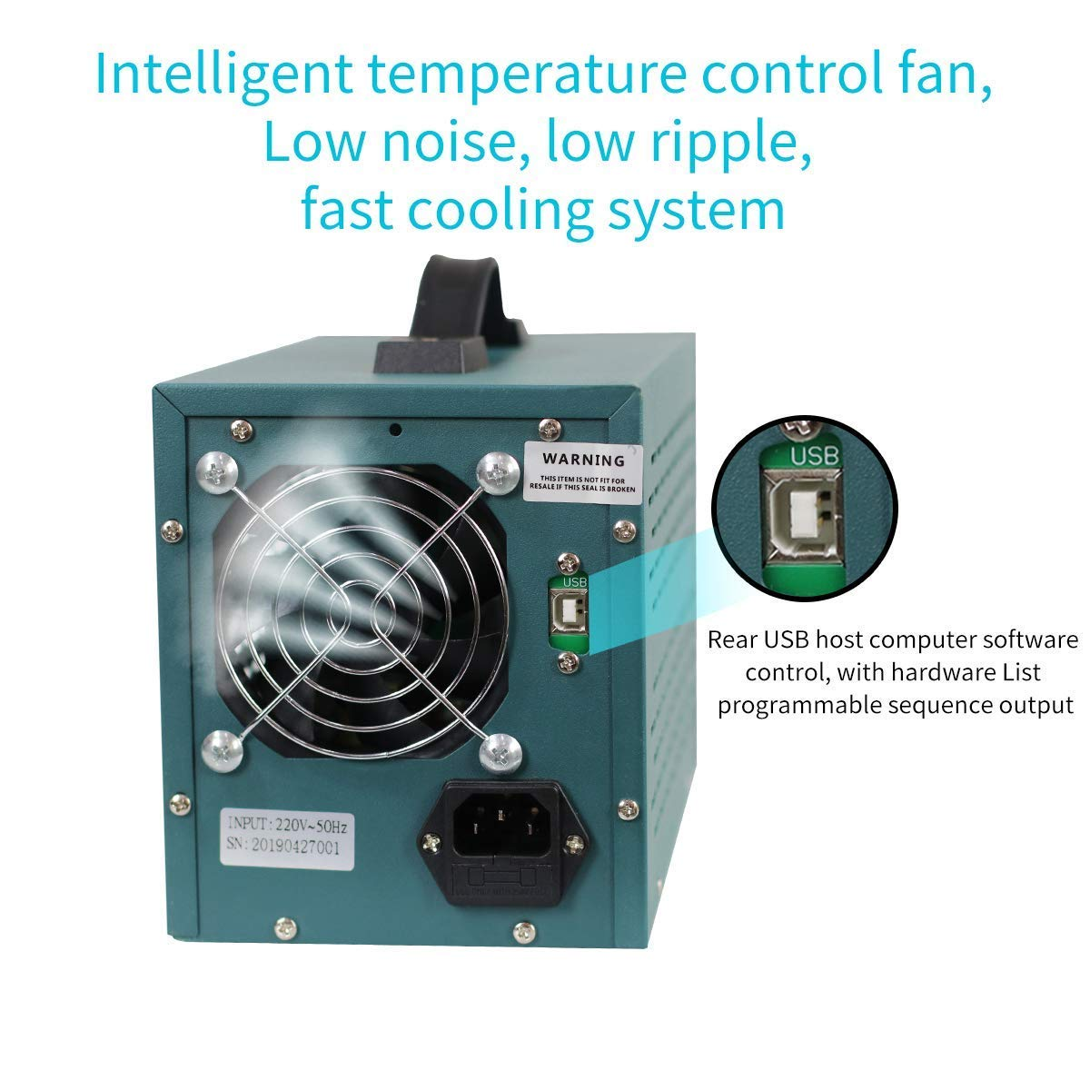 Regelbar Labornetzger/ät DC mit 4-stelliger LED-Anzeige Stabilisiertes Schaltnetzteil Strommessger/ät Labornetzger/ät,HANMATEK HM305P 0-30V // 0-5A /Überlast- /& Kurzschlussfest