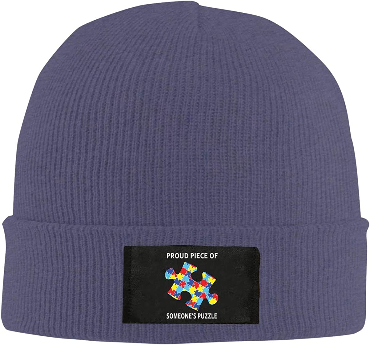 Proud Piece of Someones Puzzle Top Level Beanie Men Women Unisex Stylish Slouch Beanie Hats Black
