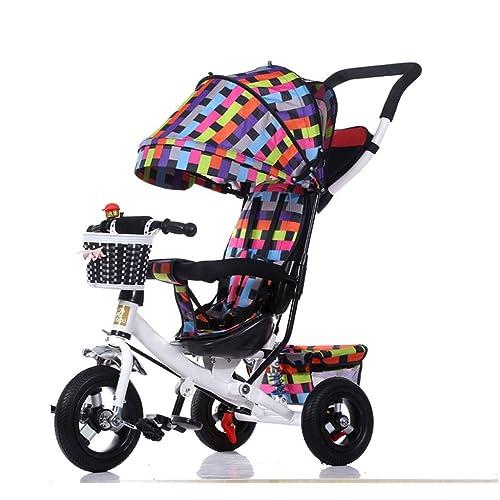 QLL-Des vélos pour enfants Sport en plein air Tricycle bébé chariot vélo enfant jouet voiture titane roue / mousse roue vélo 3 roues, pliable (garçon / fille, 1-3-5 ans) Sans danger p
