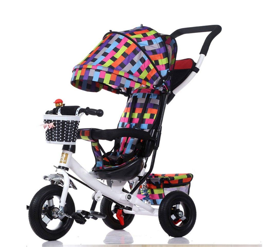 KANGR-子ども用自転車 三輪車の赤ちゃんキャリッジバイク子供のおもちゃの車のチタンの車輪/泡ホイールの自転車3つの車輪、折り畳み式(少年/少女、1-3-5歳) ( 色 : A type ) B07BTMJKWR A type A type