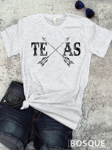 Texas with arrows Boho Style T-Shirt / Adult T-Shirt Country Southern Style Tee - Ink Printed