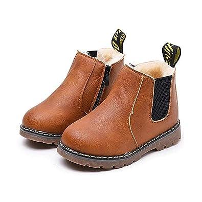 8dc836b55933d Murieo Enfants Bottes d hiver de Neige Martin Boots Chaudes Chaussures d  hiver Douces