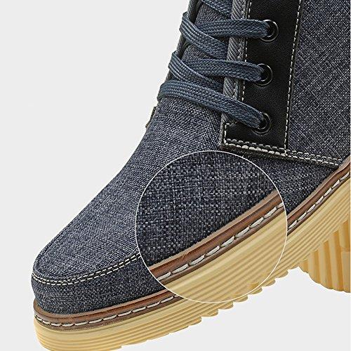 Men's Shoes Feifei Spring and Autumn Leisure High Help Cloth Shoes 4 Colors (Color : 04, Size : EU40/UK7/CN41)