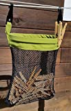 Clothesline Bundle - 4 items: Clothesline Bag and 3 sets of Kevin's Quality Clothespins (Mesh)