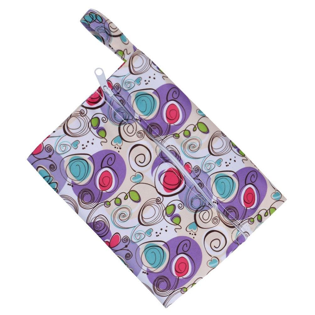 covermason R/éutilisables Lavable Wet Sac Pour Sanitaire Coussin Cycle menstruel Sanitaire Tante Sac F, 18X14cm//7.2X5.6inch