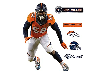 a1efccf85ac Image Unavailable. Image not available for. Color  NFL Denver Broncos Von  Miller Fathead Teammate