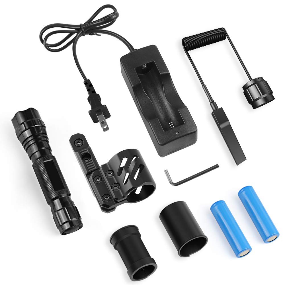 Feyachi FL14 Mlok Flashlight 1200 Lumen Tactical Flashlight with M-Lok Rail Mount for Outdoor Hunting Shooting - Rechargeable 18650 Batteries and Pressure Switch Included by Feyachi (Image #7)