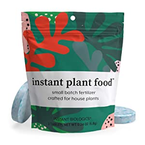 Instant Plant Food by Instant Biologics   2 Fizzing Nutrient Tablets for All Indoor & Outdoor House Plants   Boost New Plants & Revitalize Old Plants   Easy, Odorless, Vegan, Made in USA