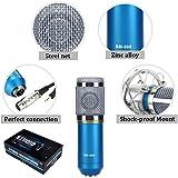GENERIC BM-800 Pro Condenser Dynamic Microphone (Blue)