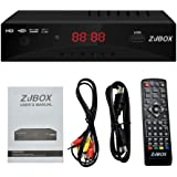 Digital TV Converter Box, ATSC Cabal Box - ZJBOX for Analog HDTV Live1080P with PVR Recording&Playback,HDMI Output,Timer Setting LED HDTV Set Top Box Digital Channel Free