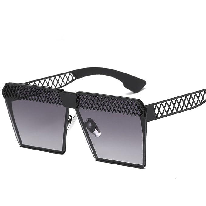XGLASSMAKER Las Gafas De Sol Polarizadas Forman La Tendencia Hueca Cuadrada Del Espejo Plano, A-No Polarizado: Amazon.es: Ropa y accesorios