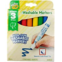 Crayola 81-1324 My First Washable Markers, 8ct