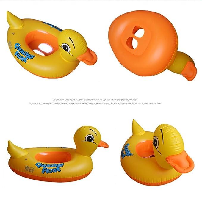 PZJ® Flotador bebe, Pato hinchable colchonetas Piscina, Piscina bebe Flotador Hinchable para piscina Juguete Veraniego Inflable, Juguete para Fiestas de ...