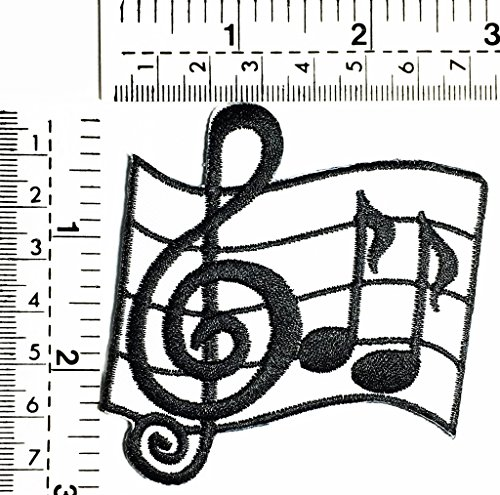 Musical notes G clef music band kids Children cartoon patch Applique for Clothes Great as happy birthday -
