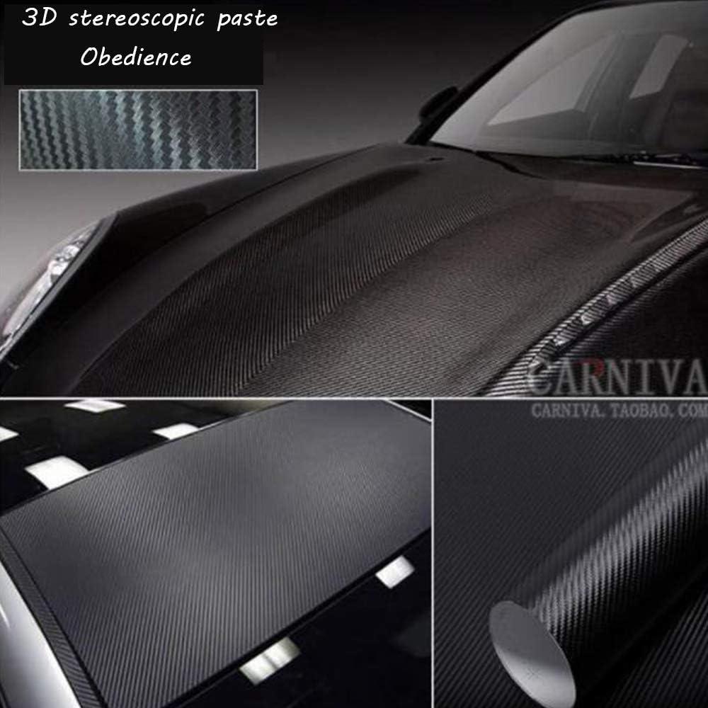 Ordinateur V/éhicule-Noir Moto Coque de Smartphone Xinlie 3D Fibre de Carbone Autocollant Adh/ésif Autocollant Voiture DIY Covering D/écoration Stickers 1.52m x 0.3m pour Voiture