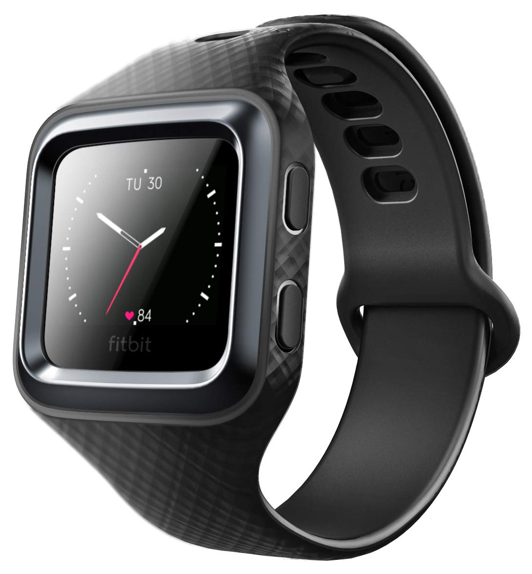 Clayco Fitbit Blaze Bands, [Hera Series] Shock Resistant Bumper Case with Strap Bands for Fitbit Blaze Replacement Smart Fitness Watch Wristband (Black) by Clayco