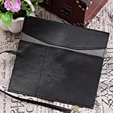 RICISUNG New Moon Pencil Case Cosmetic Leather Pen Pouch Bag MAKE UP brush art