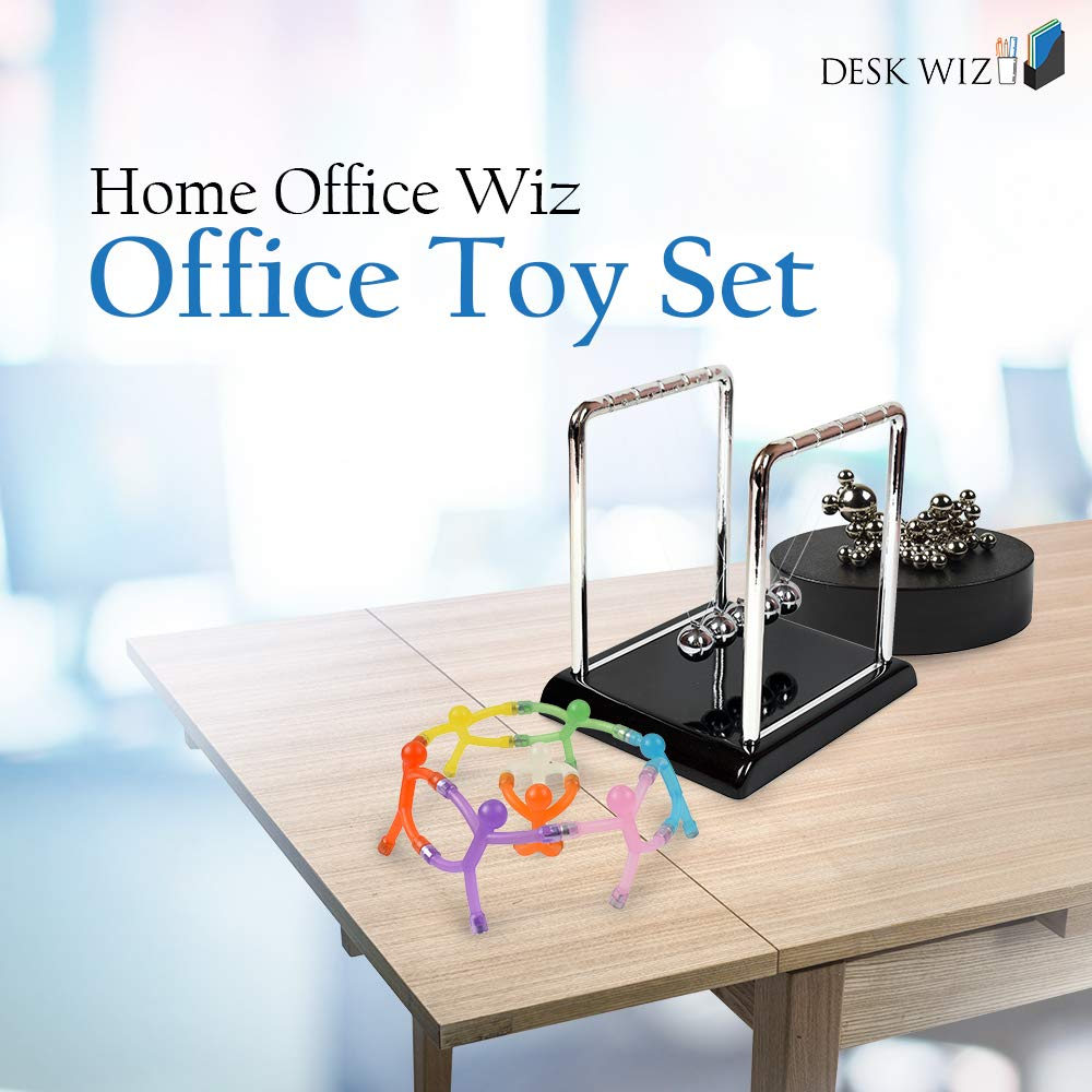 Desk Wiz Home Office Wiz Office Toy Set - Magnetic Fidget Toys w/ Magnet Balls - Relief for Boredom, Anxiety, Stress, ADHD & Autism for Kids & Adults by Desk Wiz (Image #1)