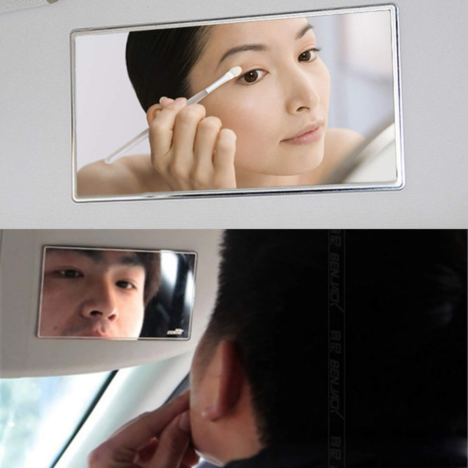 NCElec Sun Visor Mirror for Car Makeup Vanity Mirror