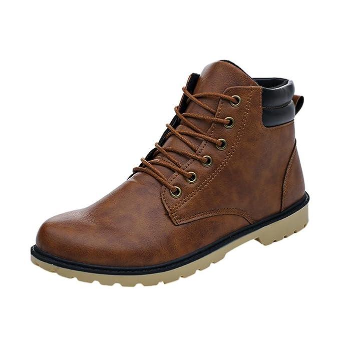 17fa5726e487 Stiefel Herren Btruely Männer Martens Stiefel Freizeitschuhe Hoch oben Schuhe  Junge Wanderstiefel Schuhe Sneakers Winter (
