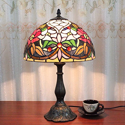 Camelias® Cristal Tiffany - Lámpara de mesa estudio ...