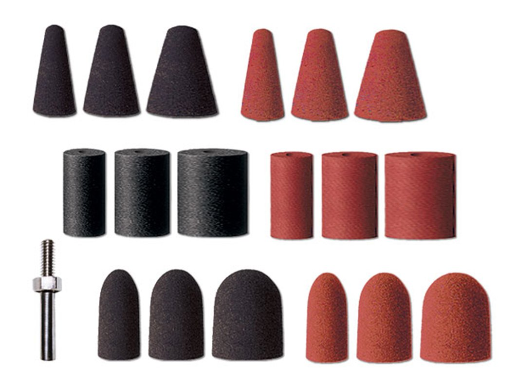 Dedeco 0012 Cone Rubberized Abrasive Assortment Kit (Pack of 20)