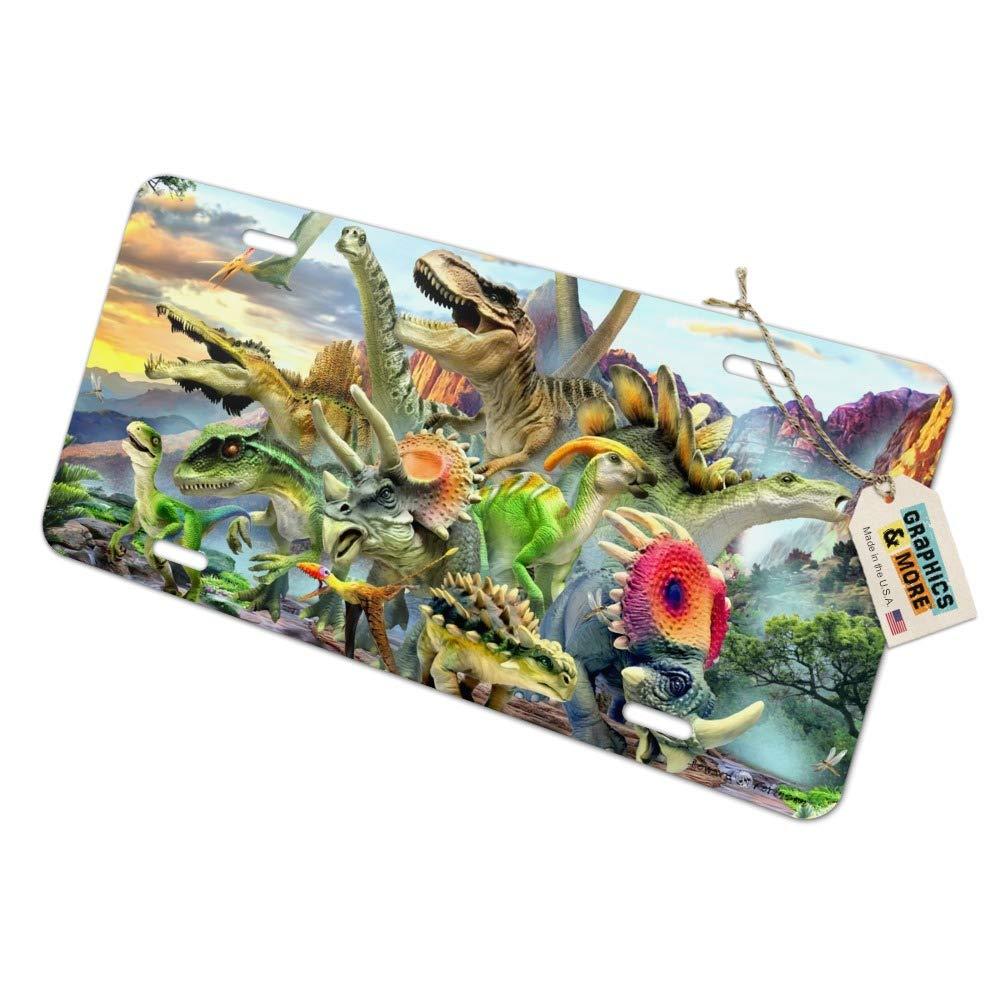 Graphics and More Placa de matrícula de Dinosaurios con ...