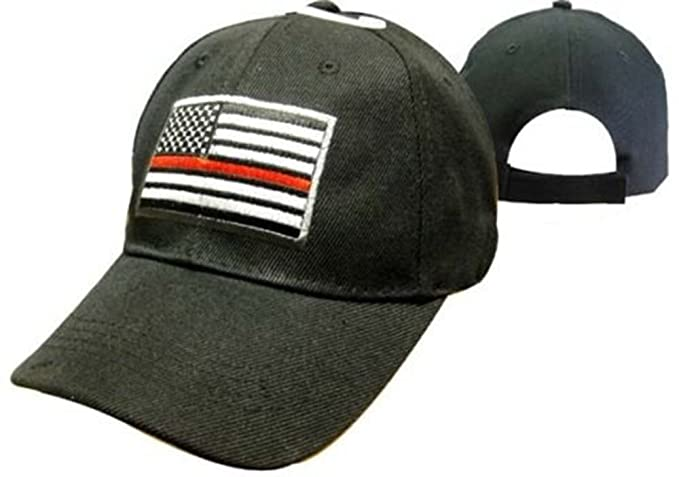 610784e889c AES Thin Red Line Low Profile Fireman Baseball Cap - Black ...