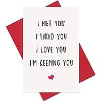 Funny I Love You Card, Birthday Card, Anniversary Card, Card for Boyfriend Husband Fiance