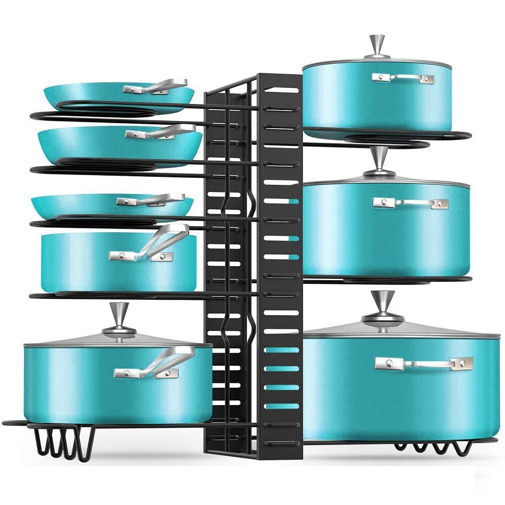 Amazon.com: Delidge Pan Organizer Rack with 3 DIY Methods ...