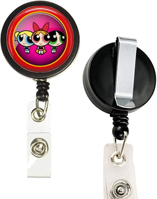 Power Puff Girls Bubbles Buttercup Blossom Key Ring Chain Zipper Coin Purse NEW