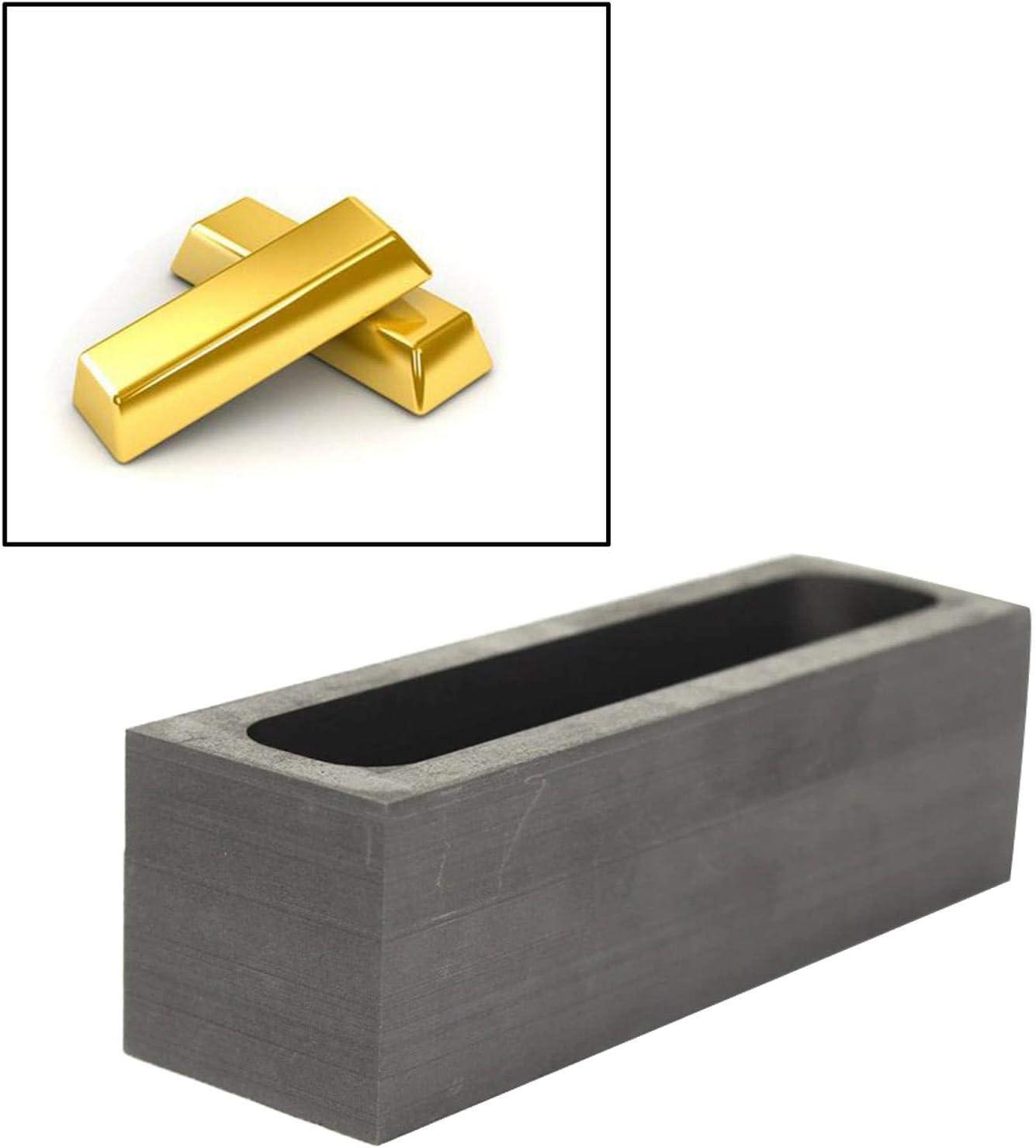Sharplace Graphit Barren Form Metall Casting Form 100x30x30mm Schmelzen Tiegel Ofen f/ür Gold Silber Aluminium Kupfer Messing Zink Legierung Metalle