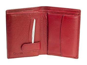 2db3ccb254d528 Esquire Duo Damen Leder Geldbörse 0484-59 Rot Geldbeutel: Amazon.de ...