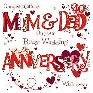 Mum dad ruby 40th wedding anniversary greeting card by talking mum dad ruby 40th wedding anniversary greeting card by talking pictures cards m4hsunfo
