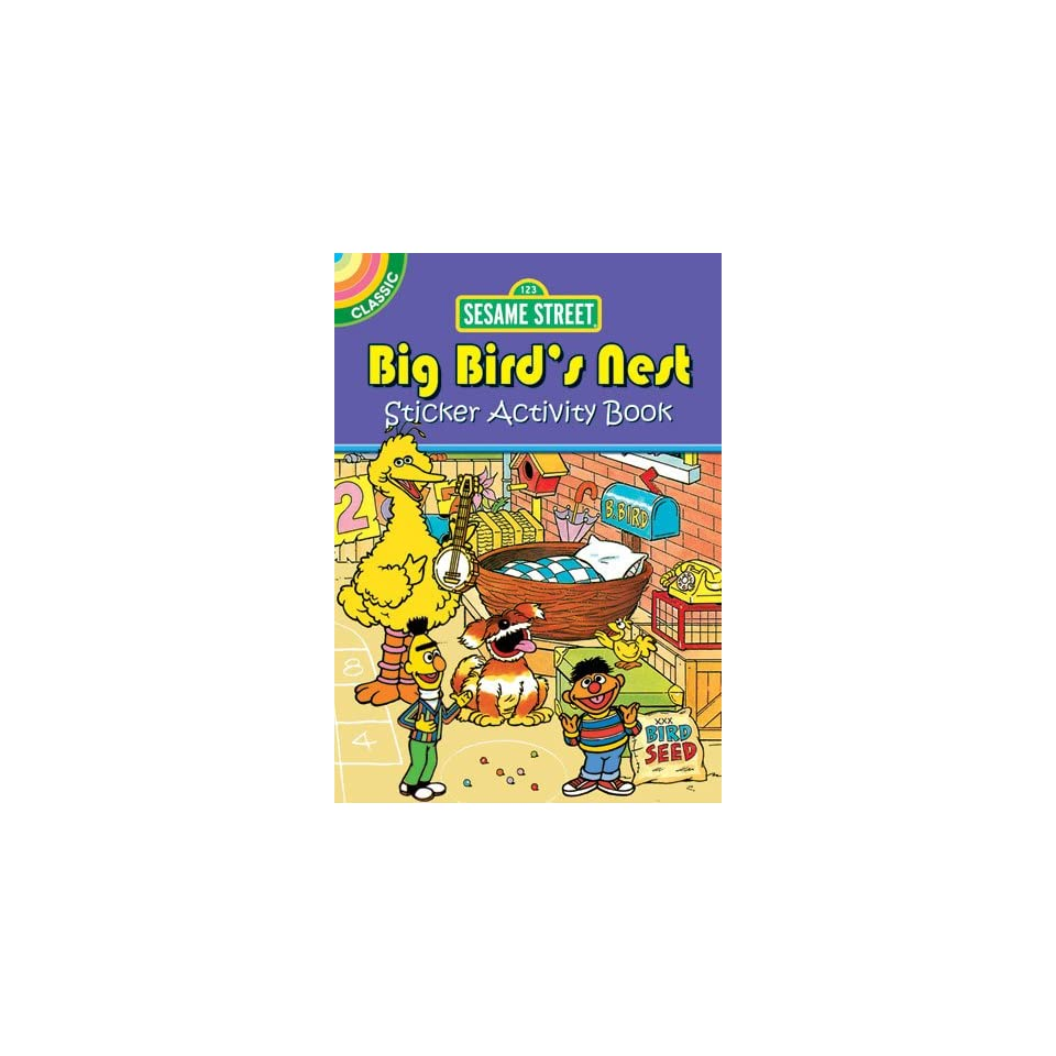 Sesame Street Classic Big Birds Nest Sticker Activity Book (Sesame Street Activity Books) (English and English Edition)